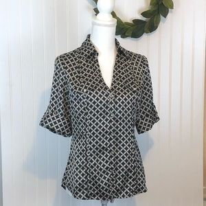 #190929 WHBM button front blouse